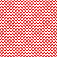 Fun Red Hearts Pattern Art Prints & Posters by Valerie Waters