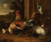 A Poultry Yard, Melchior d'Hondecoeter, c. 1660 -