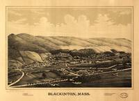 Aerial View of Blackinton, Massachusetts (1889)