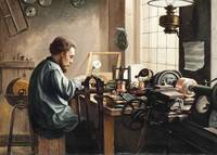 J C New,  The electrician, 1890