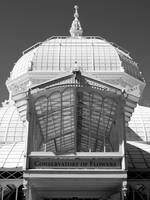 Conservatory Entrance in Black and White