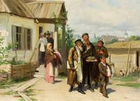 Jews Carrying Things Bought At Auction by Mykola P