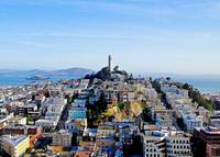 Coit Tower and Alcatraz