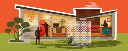 Mid Century Modern House Gay Men | Butterfly Roof