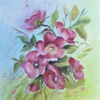 Floral Blossoms Painting Art Prints & Posters by Velvet Tetrault