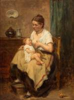 LEON EMILE CAILLE (FRENCH 1836-1907) Motherhood, 1