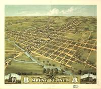 Bird's Eye View of Mount Vernon, Ohio (1870)