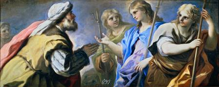 Luca Giordano Abraham and the three angels