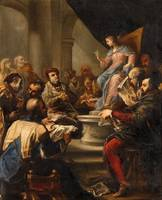 Luca Giordano christ among the doctors