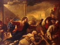Luca Giordano expulsion of the money changers from