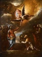 Luca Giordano christ consigning the keys to saint