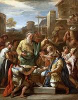 Luca Giordano king tiridates before saint gregory