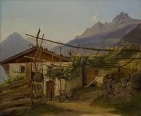 Mountain hut with climbing vine, Tyrol Thorald BRE