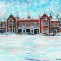 Winter at Waveney House Art Prints & Posters by RD Riccoboni
