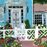 """""""Blue House on the Corner (2)"""" by CLorraine"""