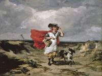 Paul Falconer Poole crossing the heath windy day