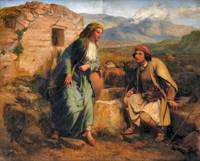 Paul Falconer Poole greek shepherd and maiden by a