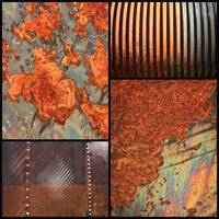 Weathered Metal Collage 4 by Carol Groenen