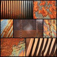 Weathered Metal Collage 3 by Carol Groenen