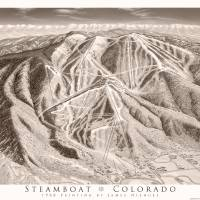 Steamboat as Sepia print Art Prints & Posters by James Niehues