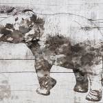 Rustic elephant Prints & Posters