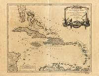 Map of the West Indies (1758)