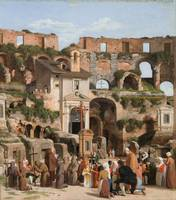 Christoffer Wilhelm Eckersberg - View of the inter