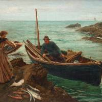 """""""CHARLES NAPIER HEMY, THE FISHERMANS SWEETHEART"""" by motionage"""