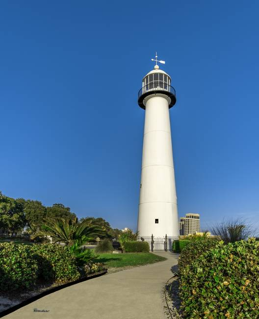 Gulf Coast Lighthouse Seascape Biloxi Ms 3773a By Ricardos Creations