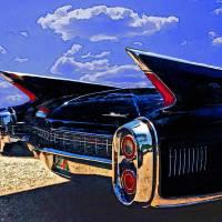 1960 Cadillac without logo Art Prints & Posters by David Caldevilla