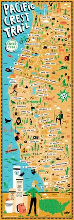 Pacific Crest Trail Map by Nate Padavick