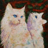 White Cats Art Prints & Posters by Michael Creese