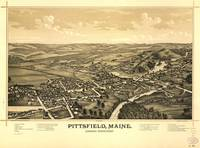 Aerial View of Pittsfield, Maine (1889)
