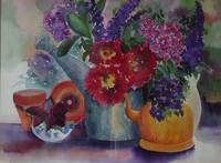 Still life with Flowers and Teapot