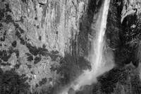 Bridalveil fall in B/W