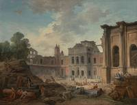 Hubert Robert (French)  Demolition of the Cha teau