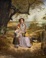 James Collinson - Mother and Child by a Stile, wit