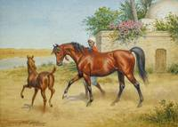 John Alexander Harrington Bird - An Arab mare and