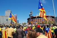 Catalan protest march, Barcelona