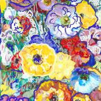 Paint Box Flowers Ranunculus Art Prints & Posters by RD Riccoboni