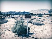 No Trespassing in Deserted Desert