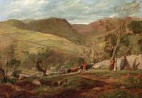 John Linnell - Hanson Toot, View in Dovedale 1815