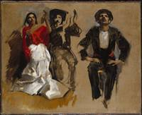 John Singer Sargent, Study for Seated Figures for