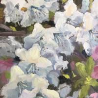 White Azalea Art Prints & Posters by Susan E Jones