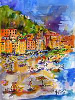 Camogli Beach Italy People on Beach