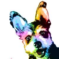 Bunker the Dog | Pop Art Art Prints & Posters by William Cuccio
