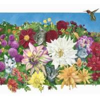 dahlia garden Art Prints & Posters by Linda Knoll