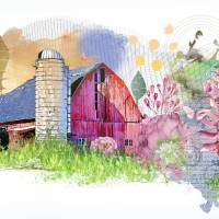 Down at the Farm Art Prints & Posters by Dawn LeBlanc