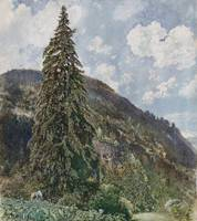 The Old Spruce in Bad Gastein by Rudolf von Alt, 1