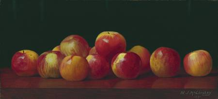 William J. McCloskey - Apples on a tabletop